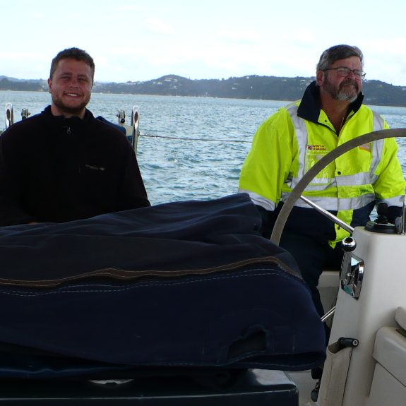 Dean and Geoff on Boat 2