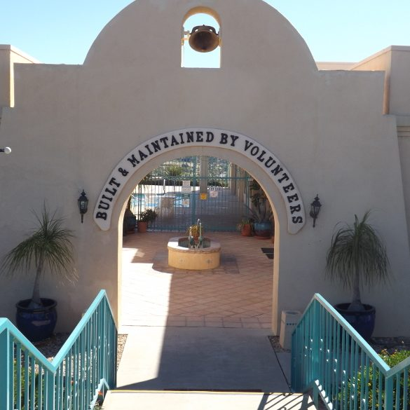 Jojoba Hills Pool Entrance